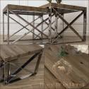 stoliki z drewna i metalu meble nowojorskie