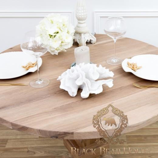 stół okrągły drewniany