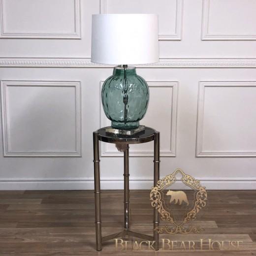 lampa z zielonym szkłem