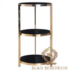 złoty stolik pomocniczy w stylu nowojorskim