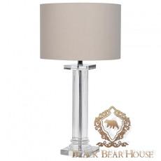 lampa na szklanej nodze