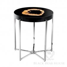 eichholtz stolik kawowy z metalu i drewna