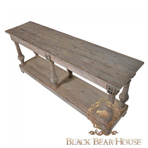 drewniana duża konsola