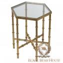 złoty stolik w stylu manhattan