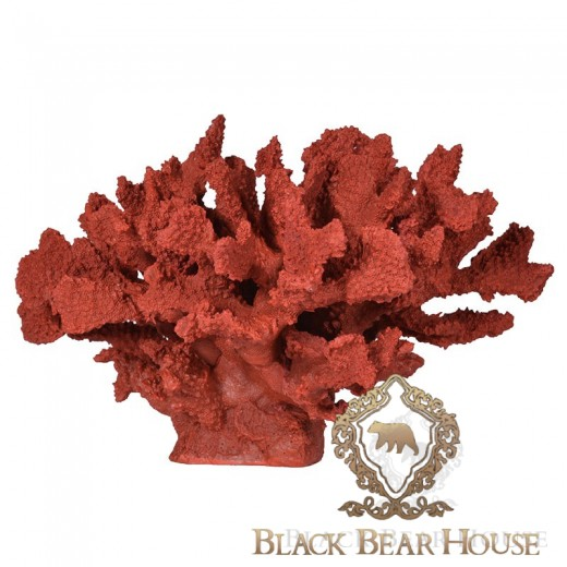 Rafa koralowa dekoracja w stylu coastal black bear house