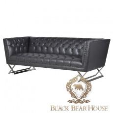 skórzana sofa w stylu nowojorskim