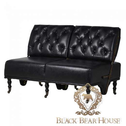 skórzana sofa black bear house