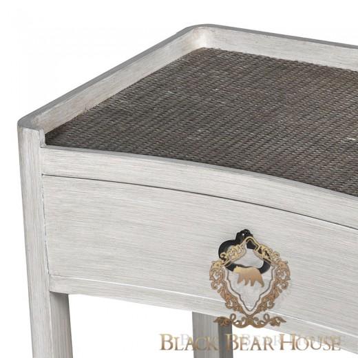 francuska bielona szafka black bear house