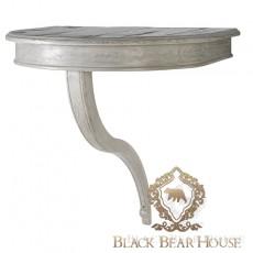 Francuska przyścienna konsola bielona black bear house