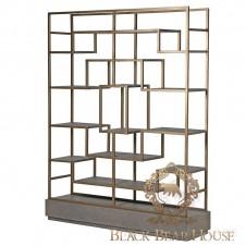 regał złoty modern classic black bear house