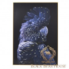 Dekoracja ścienna papuga black bear house