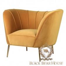 fotel welurowy w stylu modern classic black bear house