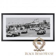 obraz grafika zdjęcie dekoracja ścienna wyścig samochodowy black bear house