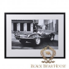 obraz steve mcqeen jaguar black bear house