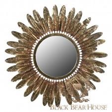 złote lustro starbust black bear house