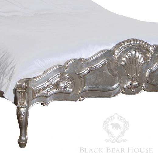 łóżko francuskie srebrne black bear house