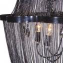 żyrandol z czarnych łańcuszków black bear house