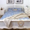 Rattanowe łóżko black bear house