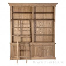 biblioteka drewniana black bear house