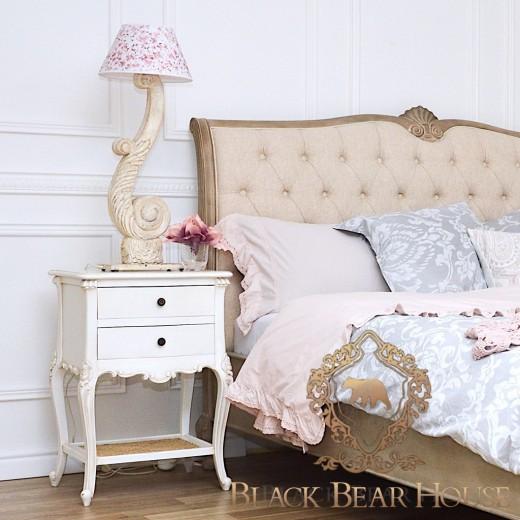francuska biała szafka black bear house