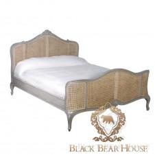 szare francuskie łóżko
