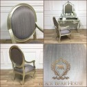 srebrne krzesło francuskie black bear house