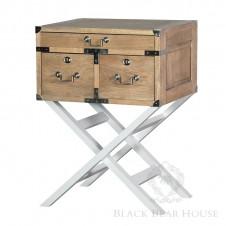 szafka na aluminiowych nogach black bear house