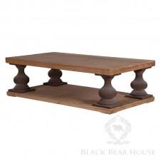 drewniany stolik kawowy na tłoczonych nogach black bear house