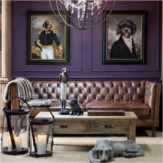 brązowo skórzana sofa Black Bear House