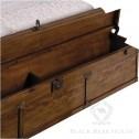 drewniane łóżko black bear house