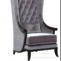 fotel tapicerowany aksamitem black bear houseI