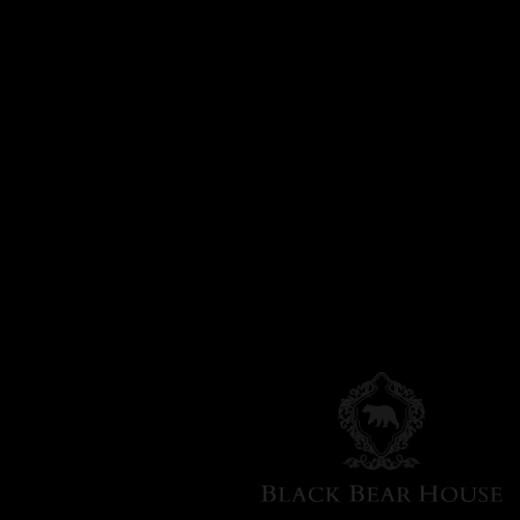 krzesło tapicerowane z metalowym uchwytem black bear house