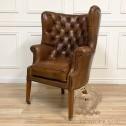 skórzany pikowany fotel black bear house