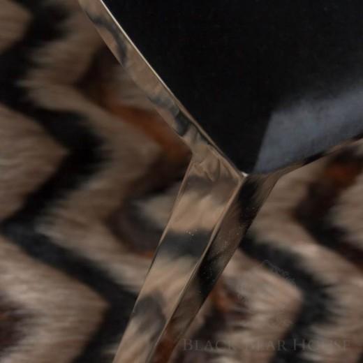 krzesło czarne glamour black bear house