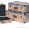zestaw teczek z drewna i aluminium