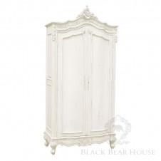 drewniana biała szafa black bear house