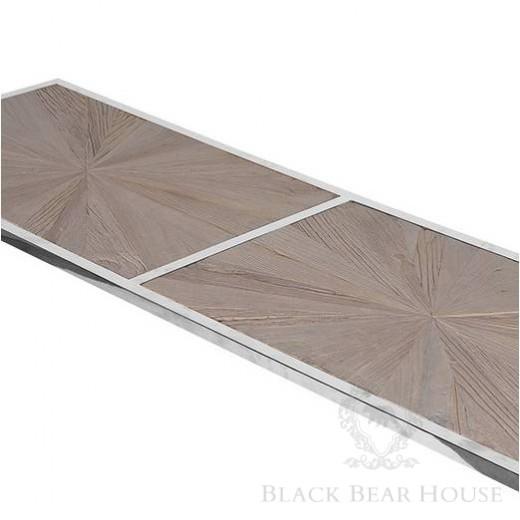 konsola na aluminiowych nogach black bear house
