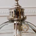 Żyrandol Srebrny szklany