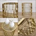 złoty stolik w stylu nowojorskim