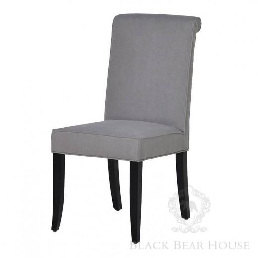 szare pikowane krzesło w stylu nowojorskim black bear house