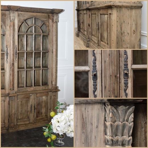 witryna podówjna drewniana black bear house