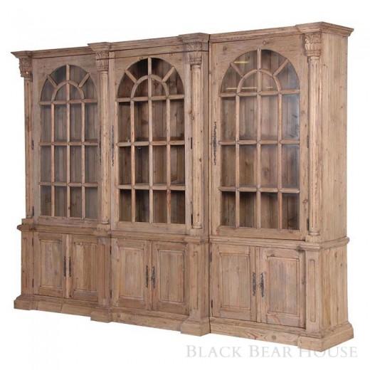 witryna potrójna drewniana black bear house