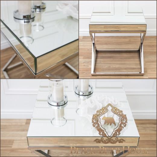 lustrzany stolik w stylu nowojorskim black bear house