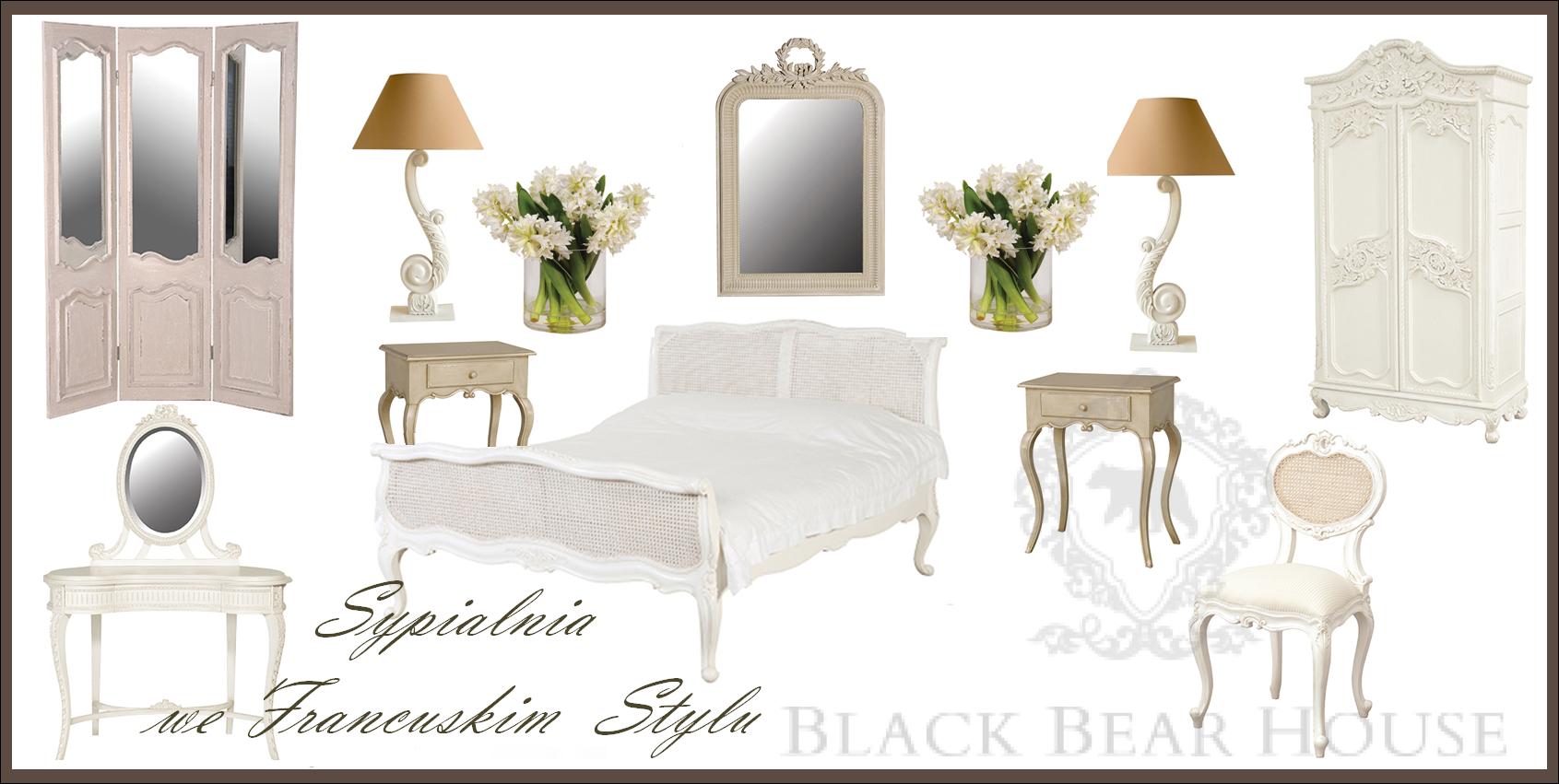 styl francuski sypialnia