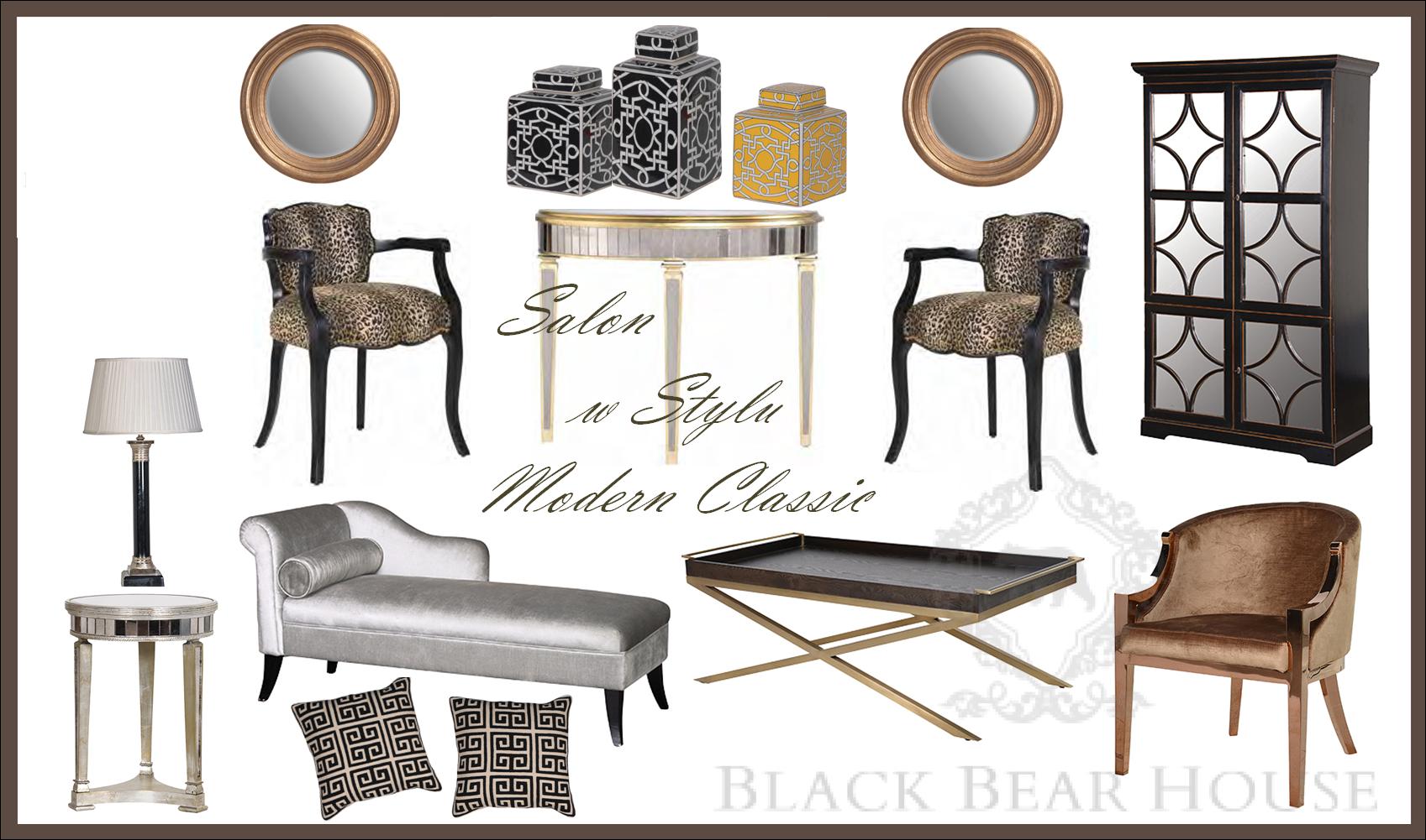 styl modern classic salon