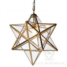 złota gwiazda lampa black bear house