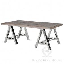 stolik kawowy na aluminiowych nogach black bear house