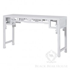 biała konsola orientalna black bear house
