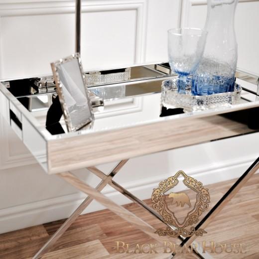lustrzany stolik w stylu nowojorskim
