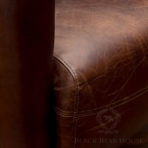 fotel skórzany vintage black bear house